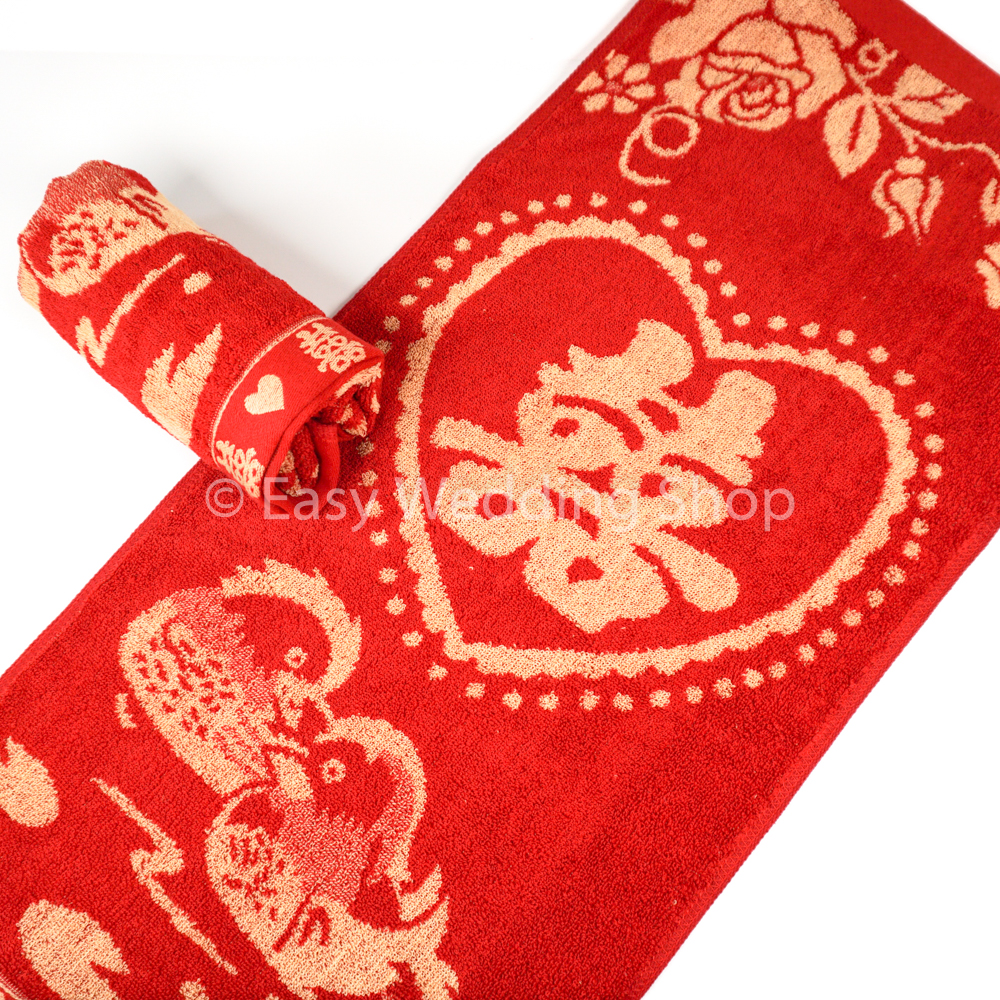 Wedding Red Towel 面巾